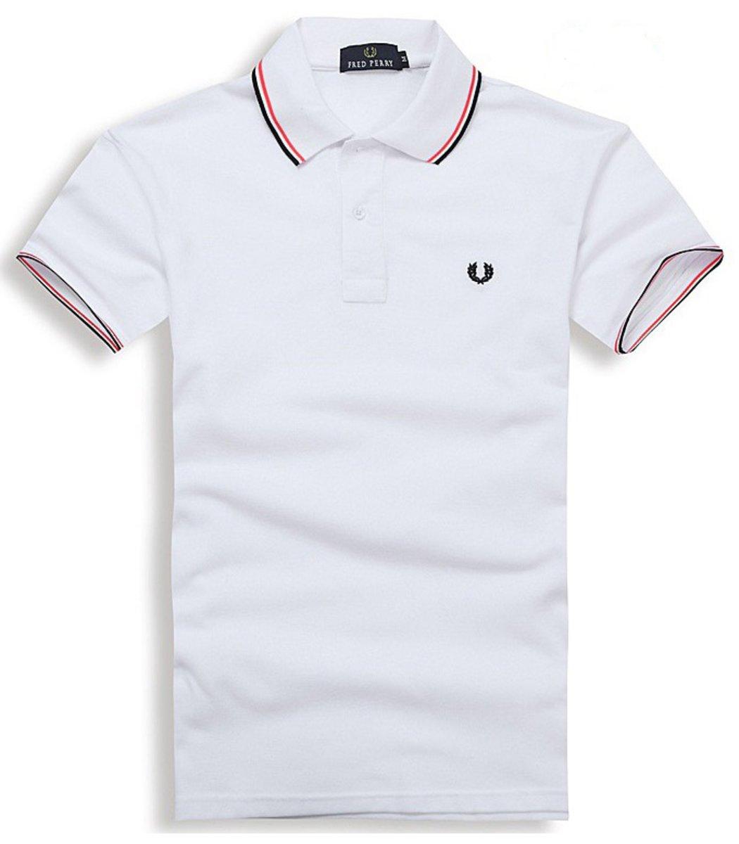 Мужская белая футболка поло Fred Perry