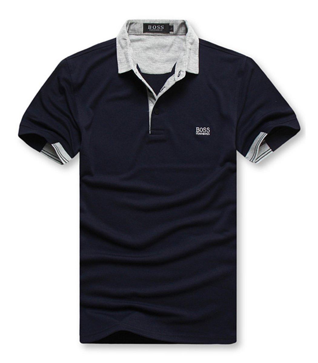 Мужская темно-синяя футболка поло Hugo Boss