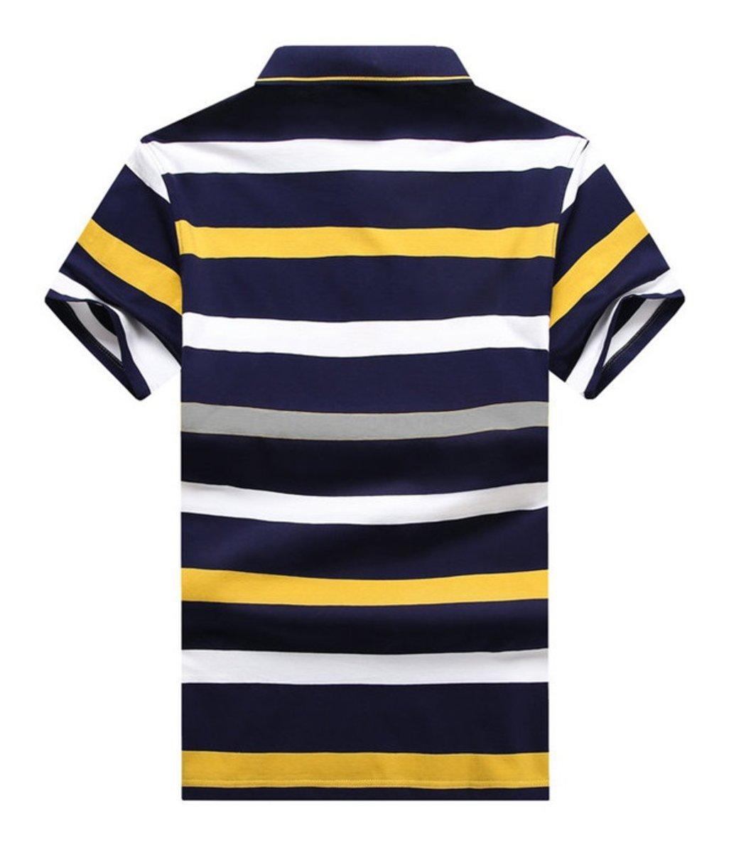 Мужская желтая футболка поло Hugo Boss в полоску - желтый - Вид 2