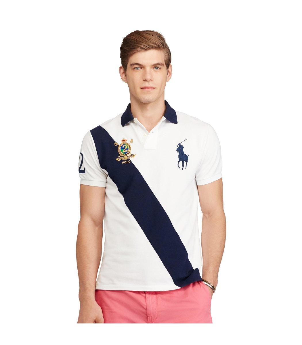 Мужская белая футболка поло Ralph Lauren R6 - Белый - Вид 2
