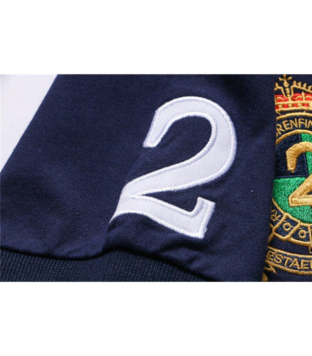 Мужская Темно-синяя футболка поло Ralph Lauren R7