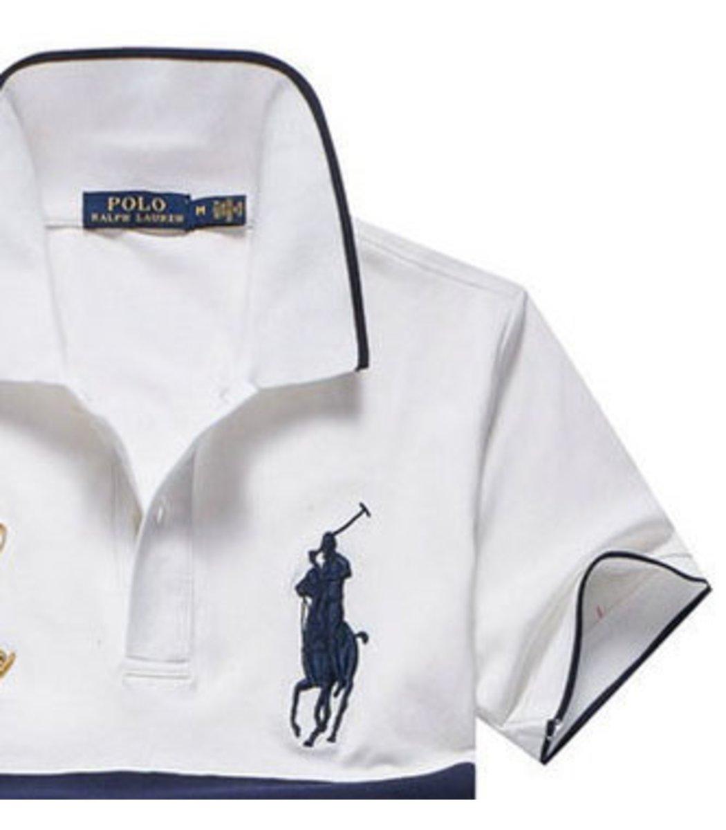 Мужская белая футболка поло Ralph Lauren R7 - Белый - Вид 4