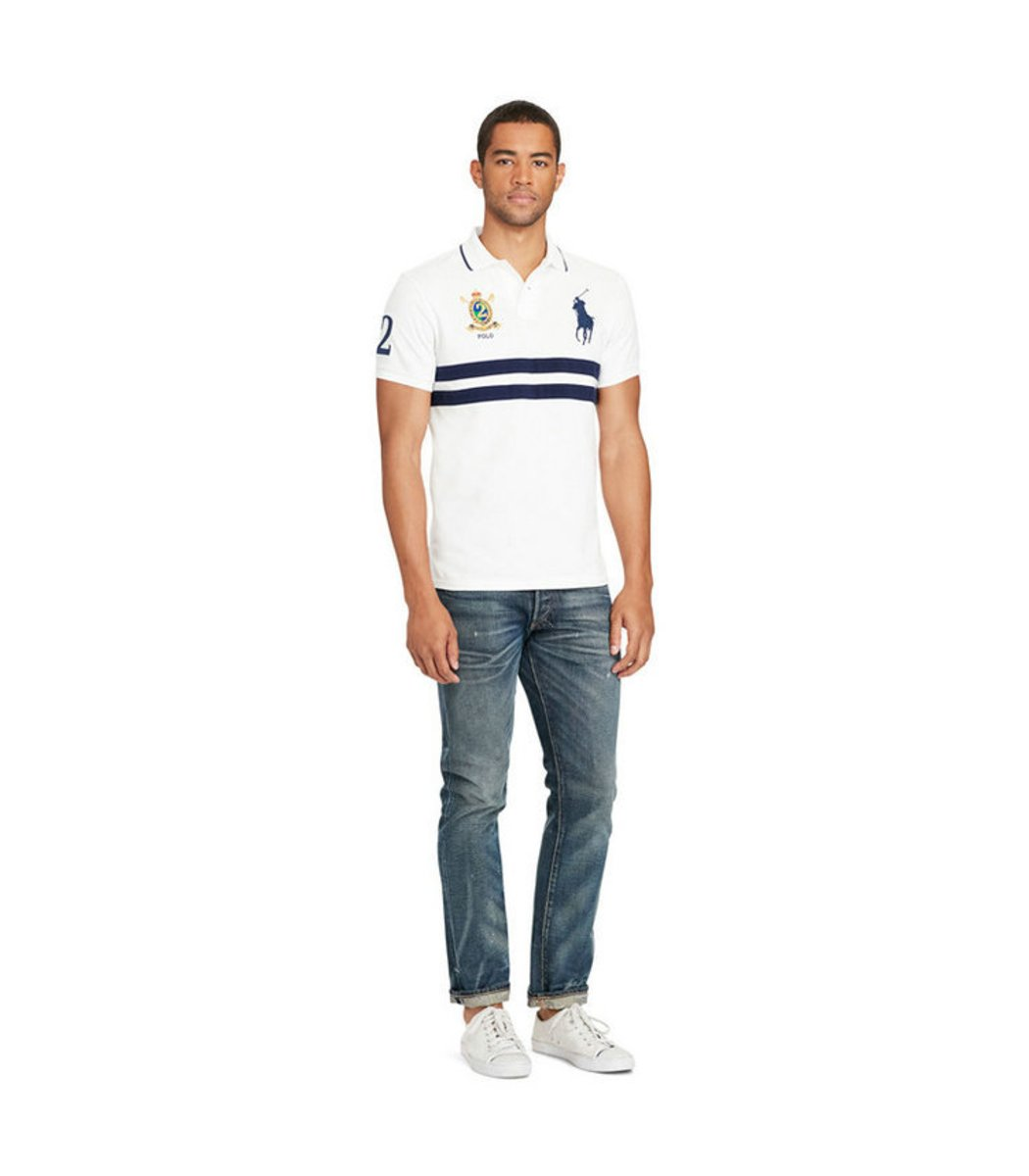 Мужская белая футболка поло Ralph Lauren R7 - Белый - Вид 2