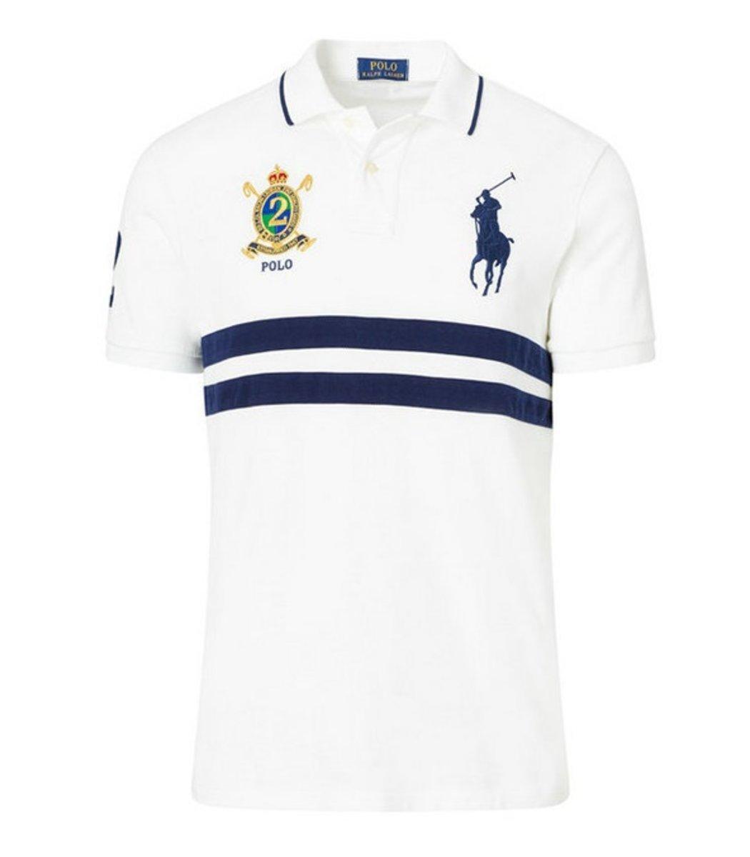 Мужская белая футболка поло Ralph Lauren R7 - Белый - Вид 1