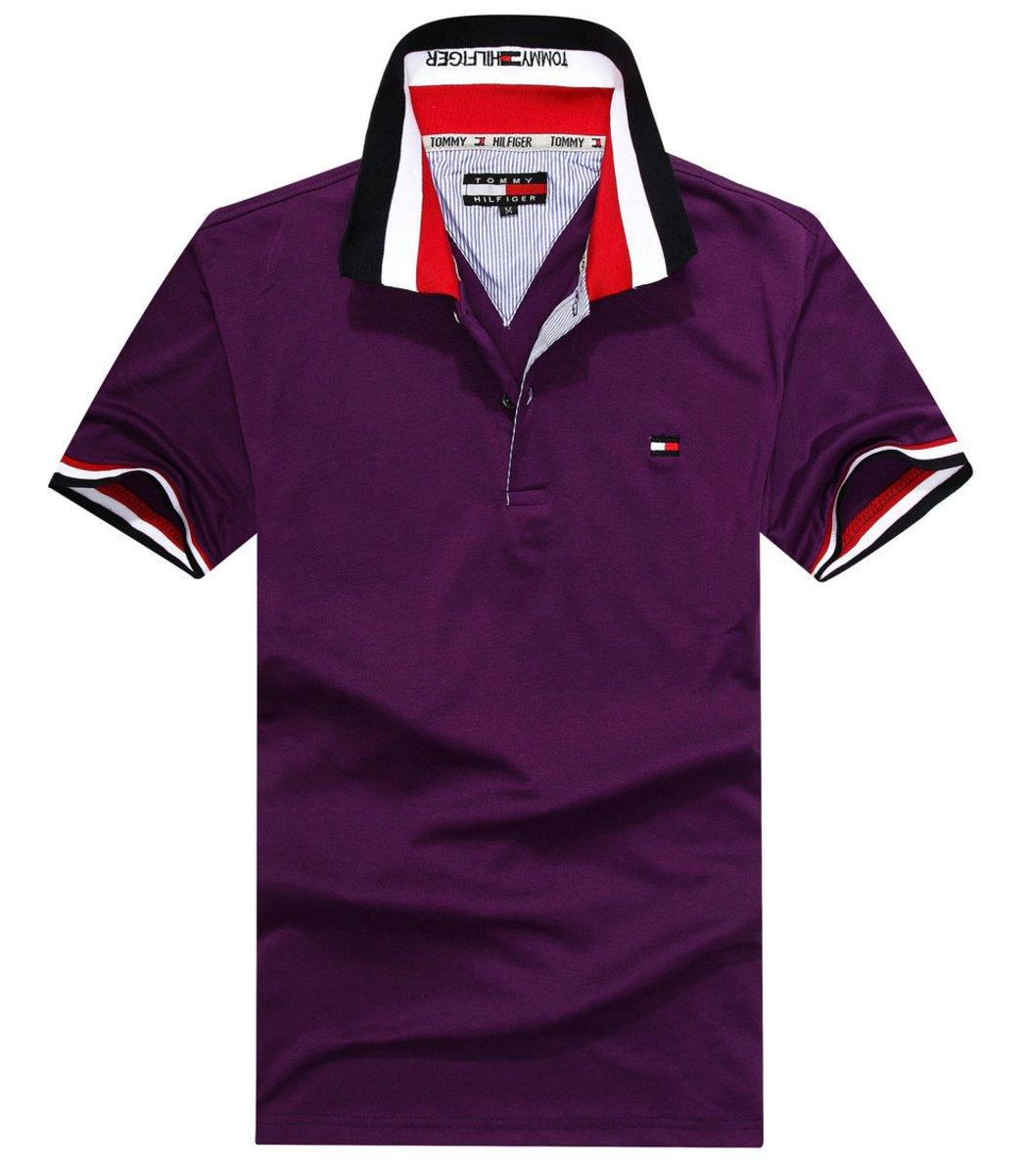 Мужская фиолетовая футболка поло Tommy Hilfiger