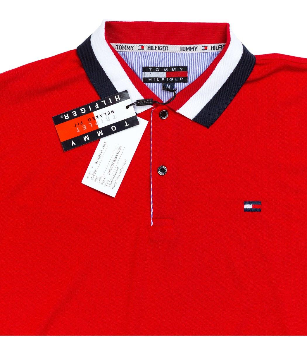 Мужская красная футболка поло Tommy Hilfiger - красный - Вид 4