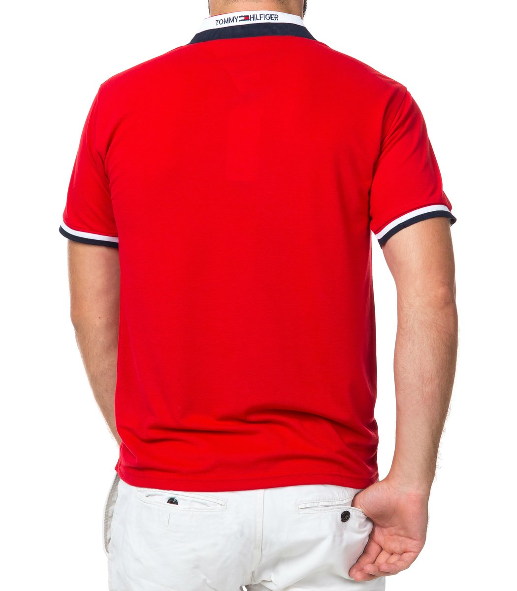 Мужская красная футболка поло Tommy Hilfiger - красный - Вид 3