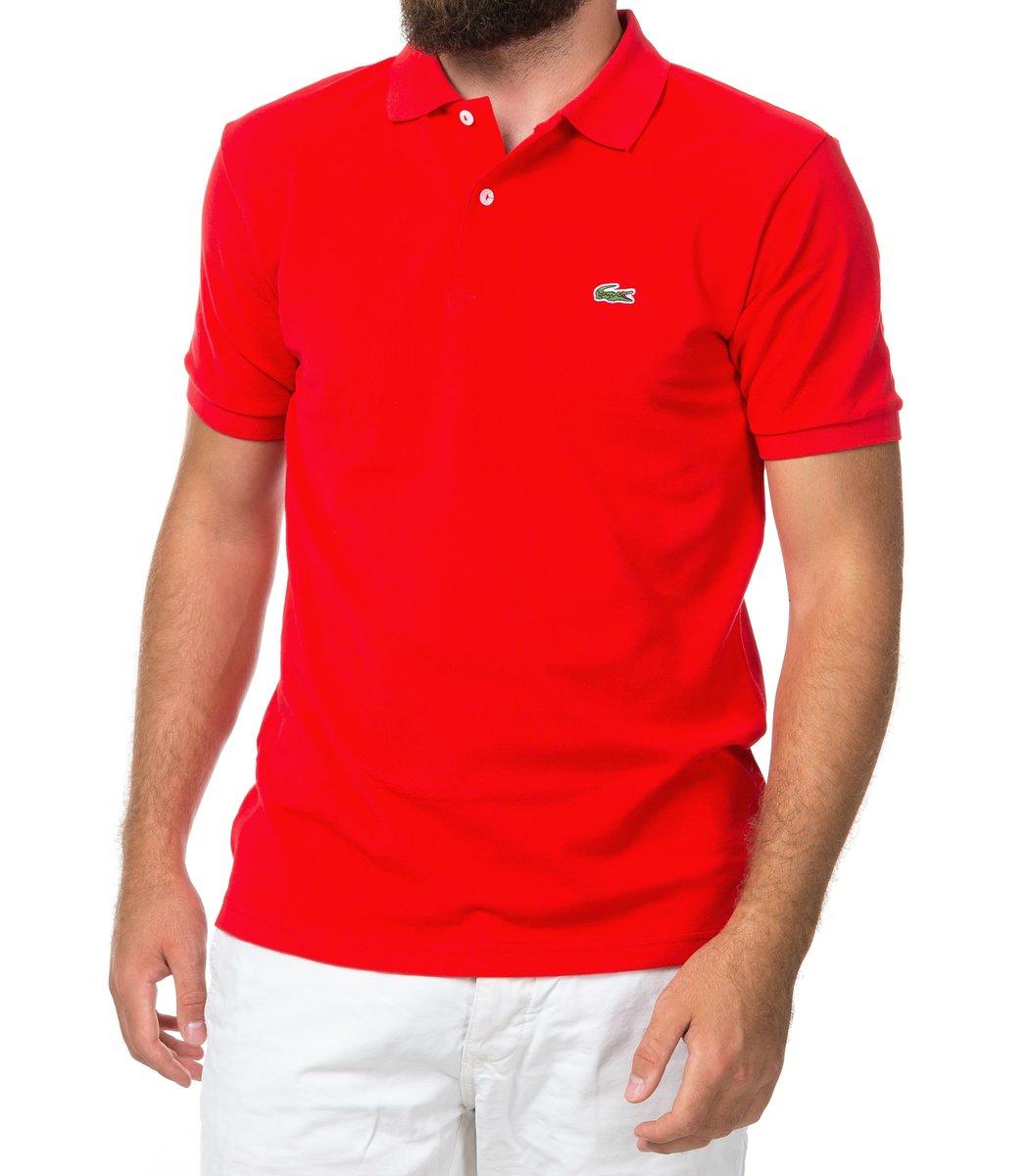 Мужская красная футболка поло Lacoste
