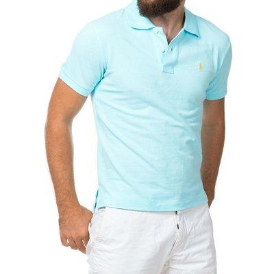 Светло-голубая футболка поло Ralph Lauren R1