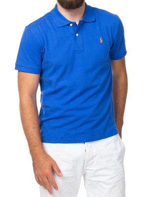 Мужская темно-голубая футболка поло Ralph Lauren R1 - темно-голубой - Вид 2