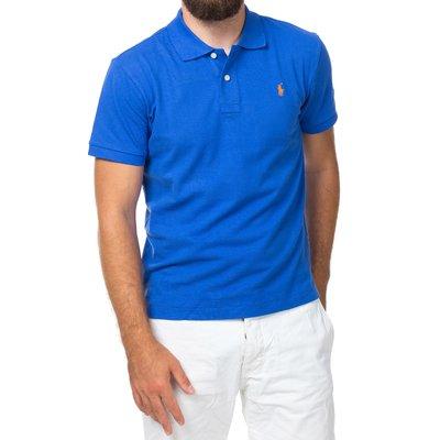 Мужская темно-голубая футболка поло Ralph Lauren R1