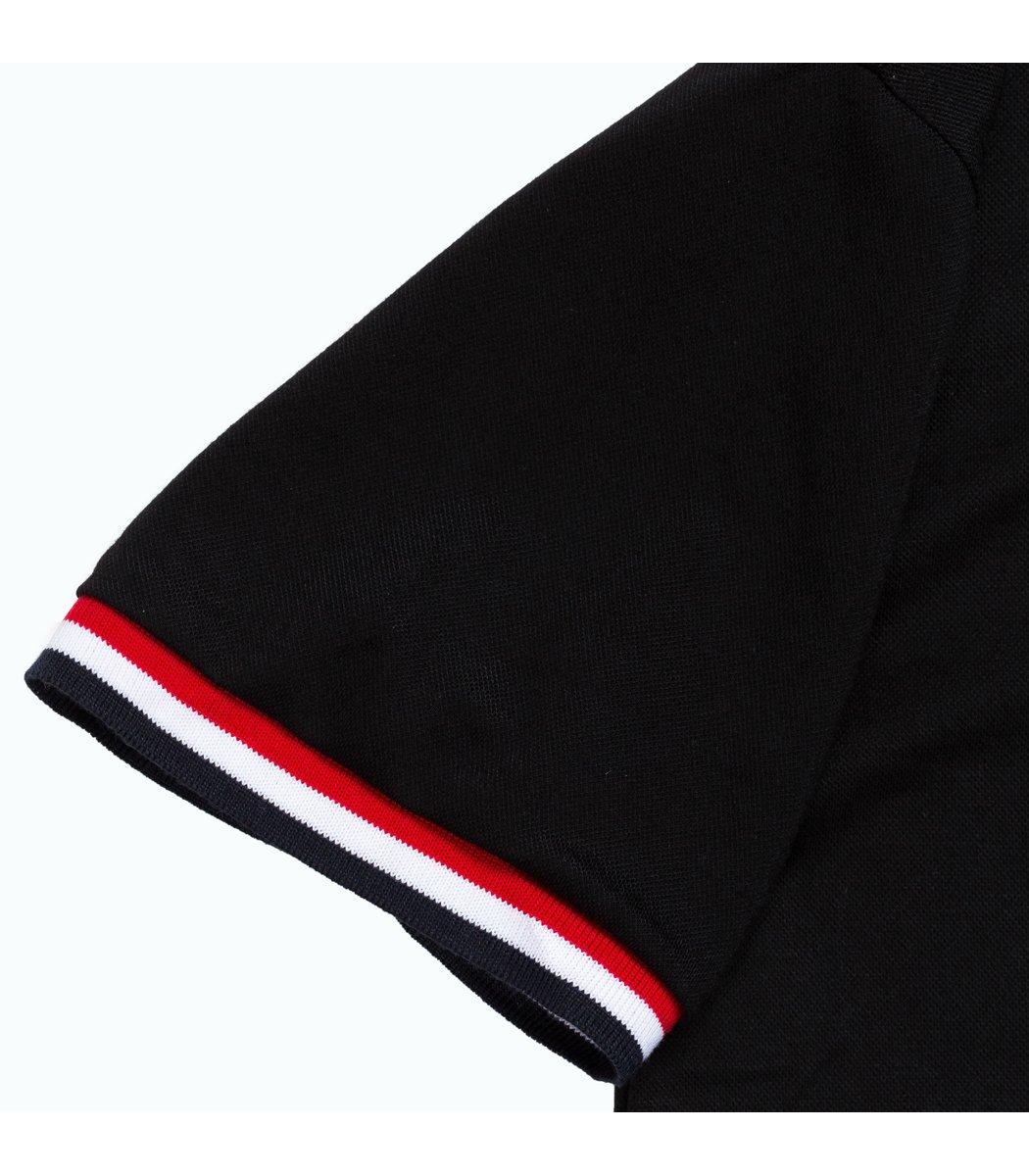 Мужская черная футболка поло Tommy Hilfiger - черный - Вид 5