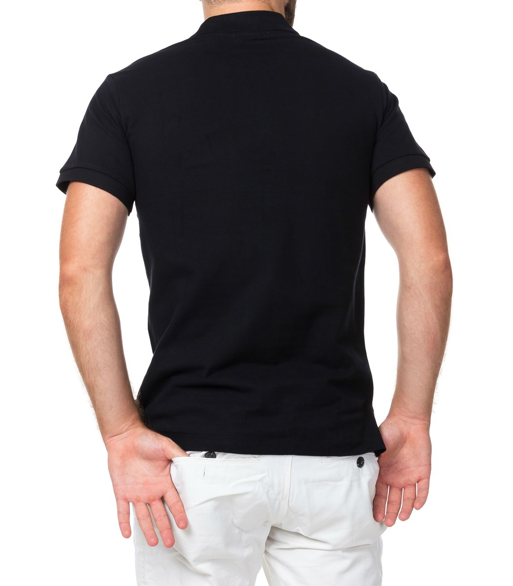 Мужская черная футболка поло Ralph Lauren R1