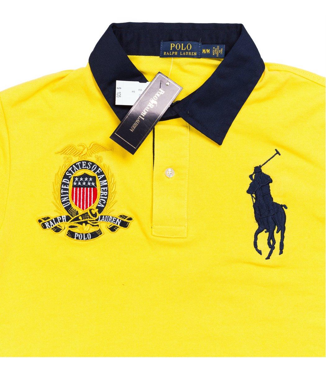 Мужская желтая футболка поло Ralph Lauren R5  - желтый - Вид 4