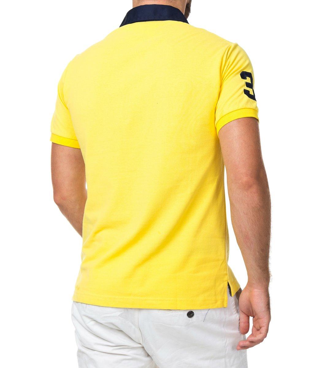 Мужская желтая футболка поло Ralph Lauren R5  - желтый - Вид 3