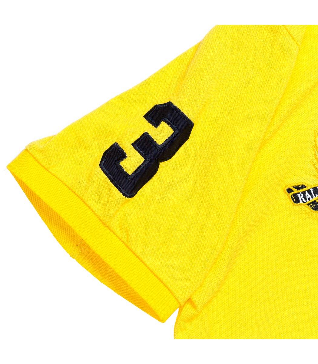 Мужская желтая футболка поло Ralph Lauren R5  - желтый - Вид 5