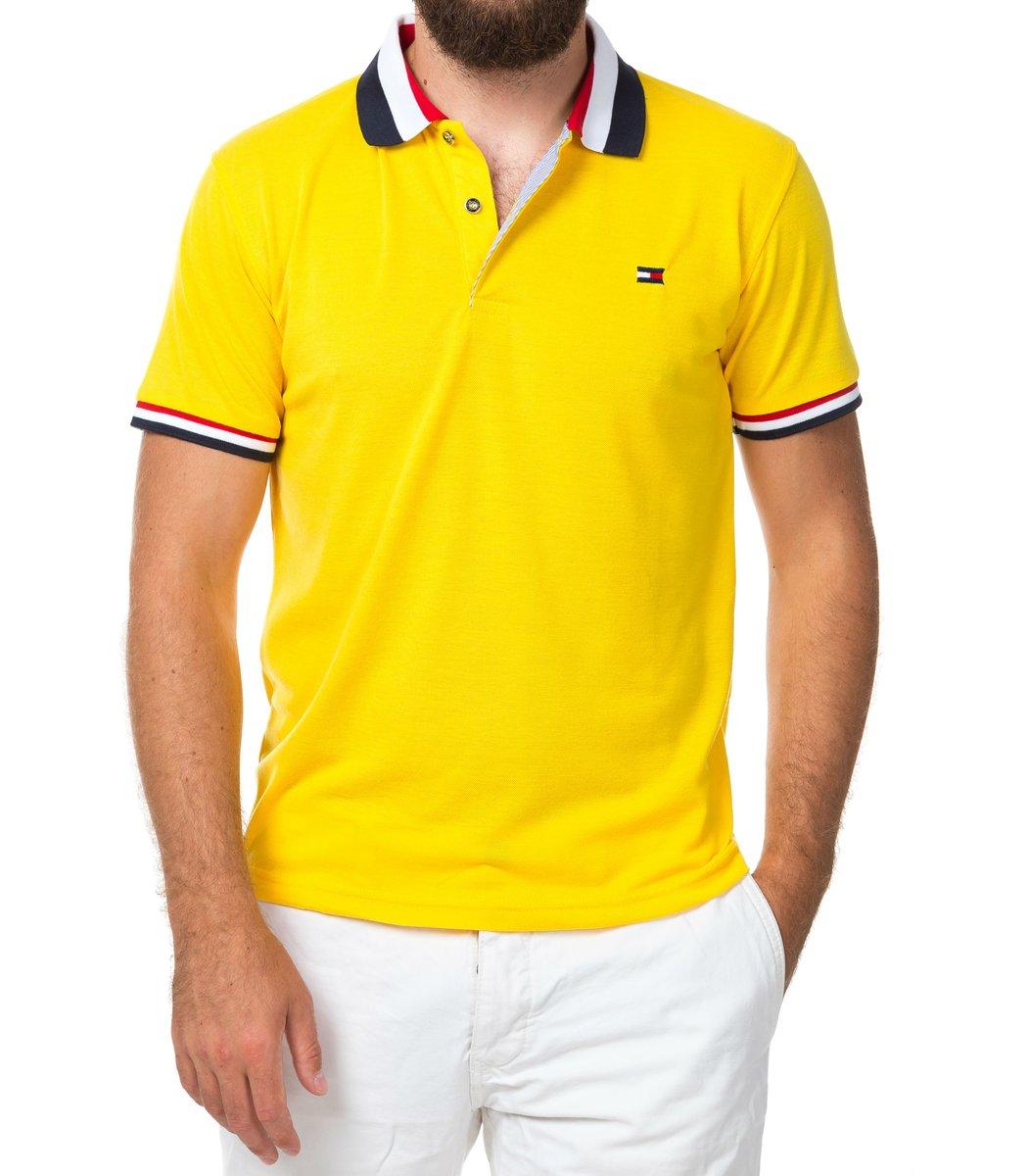 Мужская желтая футболка поло Tommy Hilfige