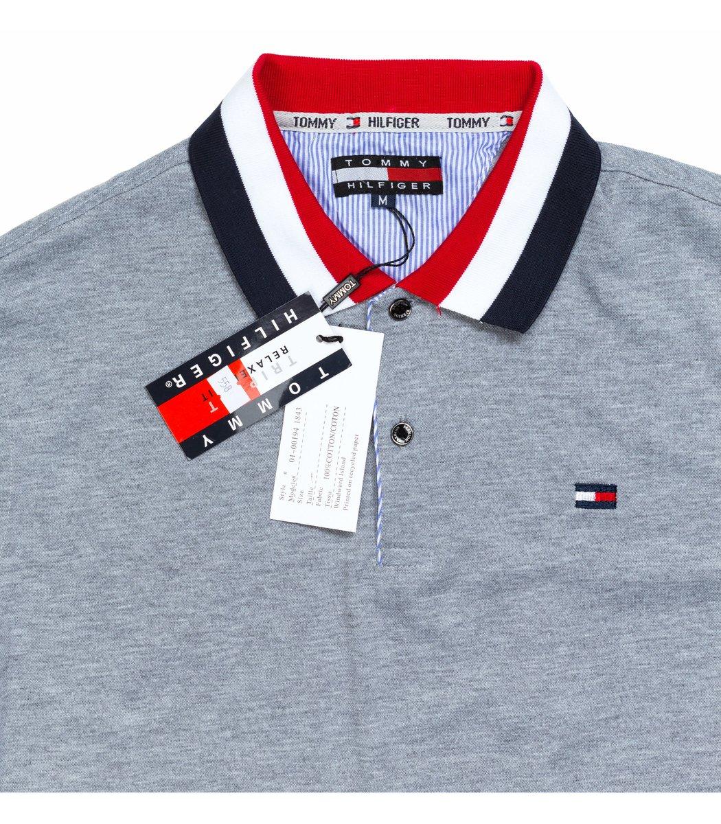Мужская серая футболка поло Tommy Hilfiger