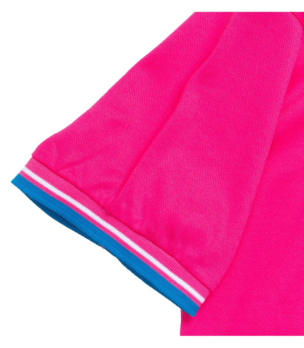 Мужская темно-розовая футболка поло Fred Perry - темно-розовый - Вид 4