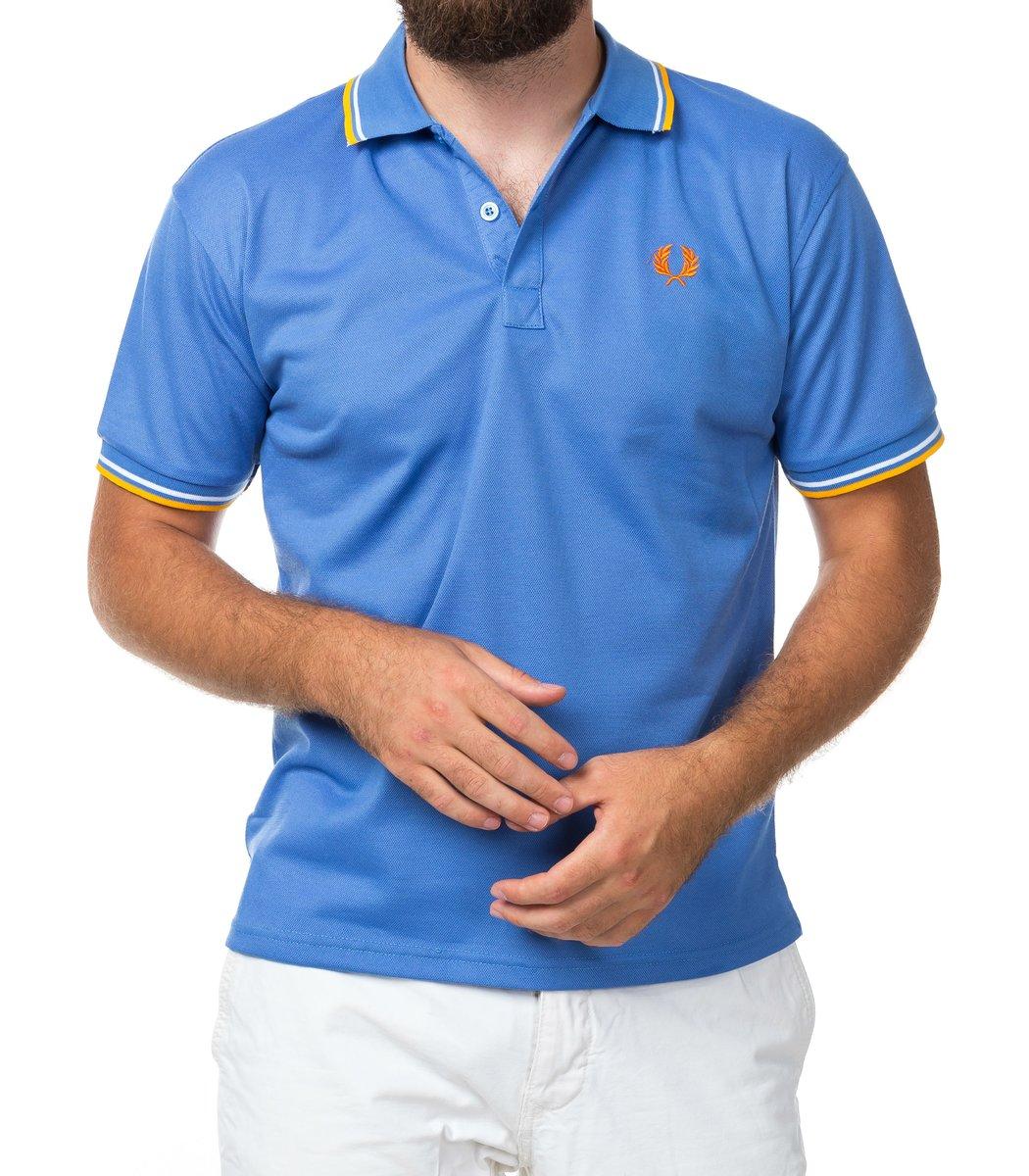 Мужская синяя футболка поло Fred Perry  - синий - Вид 2