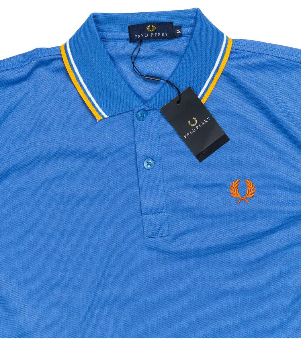 Мужская синяя футболка поло Fred Perry  - синий - Вид 4