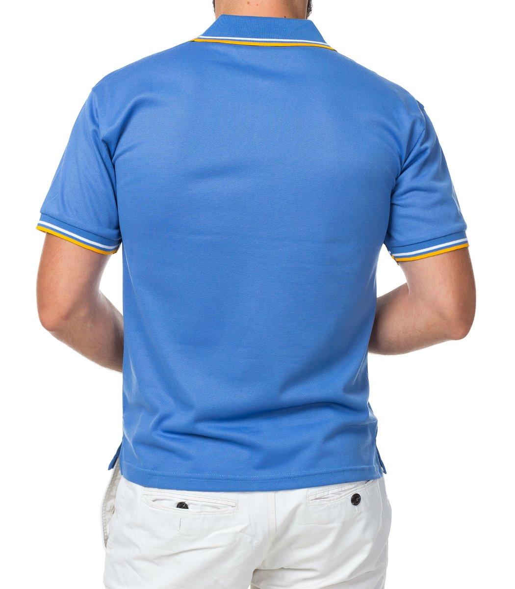 Мужская синяя футболка поло Fred Perry  - синий - Вид 3