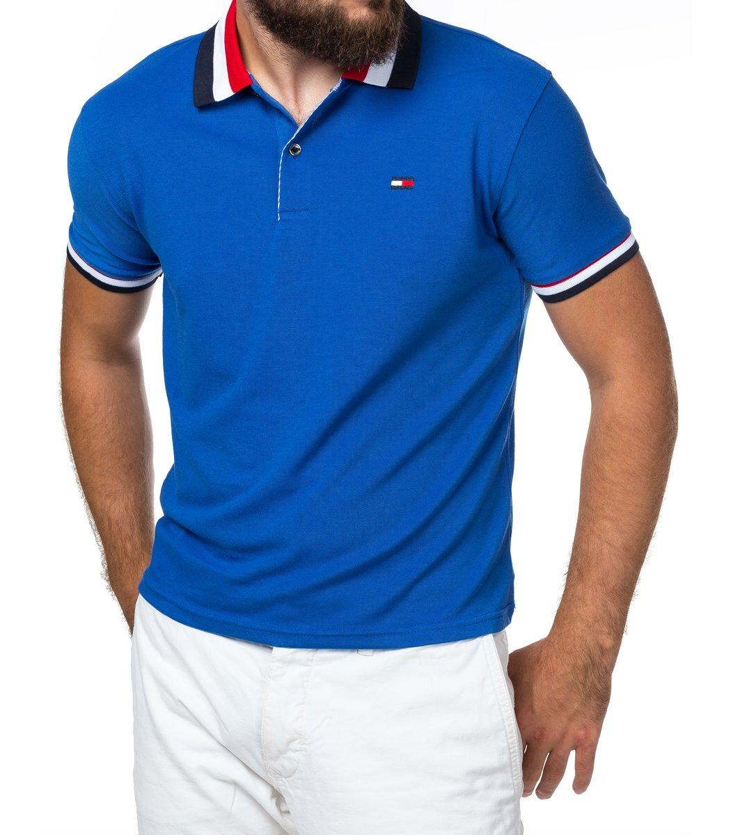 Мужская синяя футболка поло Tommy Hilfiger