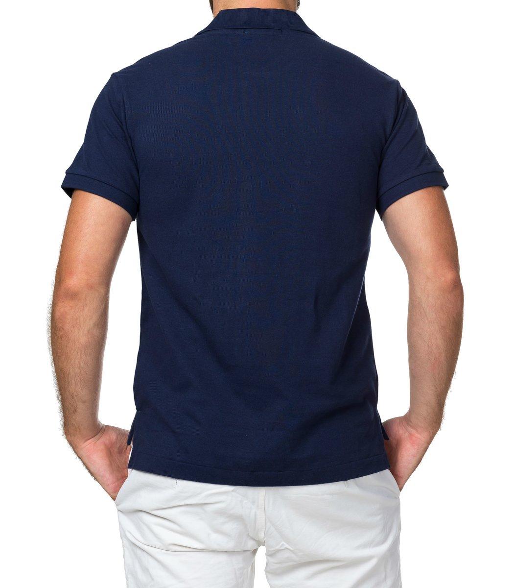 Мужская темно-синяя футболка поло Ralph Lauren R1