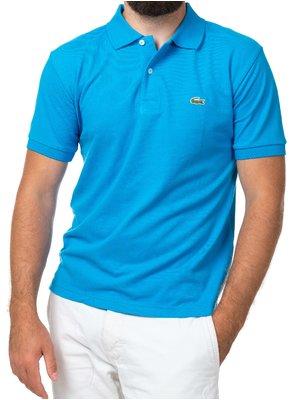 Темно-голубая футболка поло Lacoste