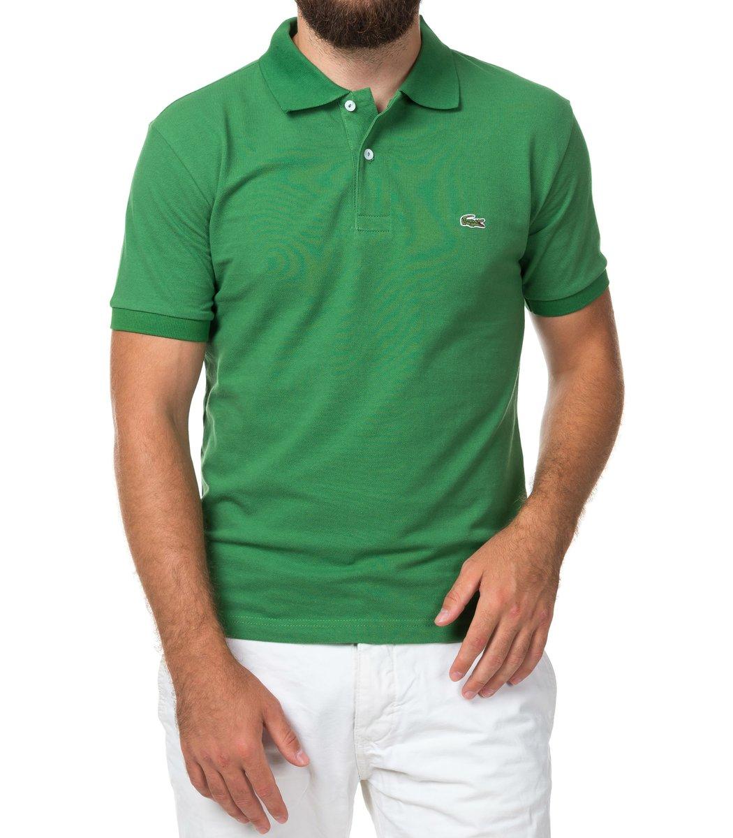 Мужская зеленая футболка поло Lacoste - зеленый - Вид 2