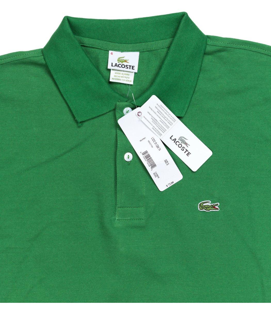 Мужская зеленая футболка поло Lacoste