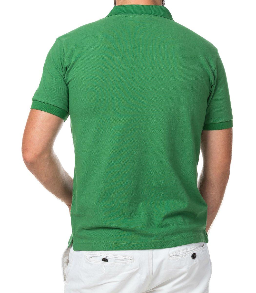 Мужская зеленая футболка поло Lacoste - зеленый - Вид 3