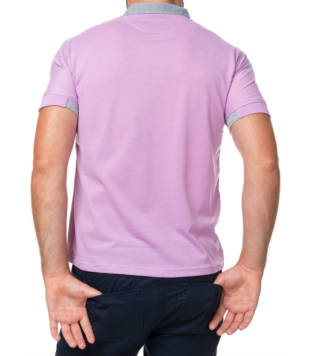 Мужская светло –сиреневая футболка поло Hugo Boss