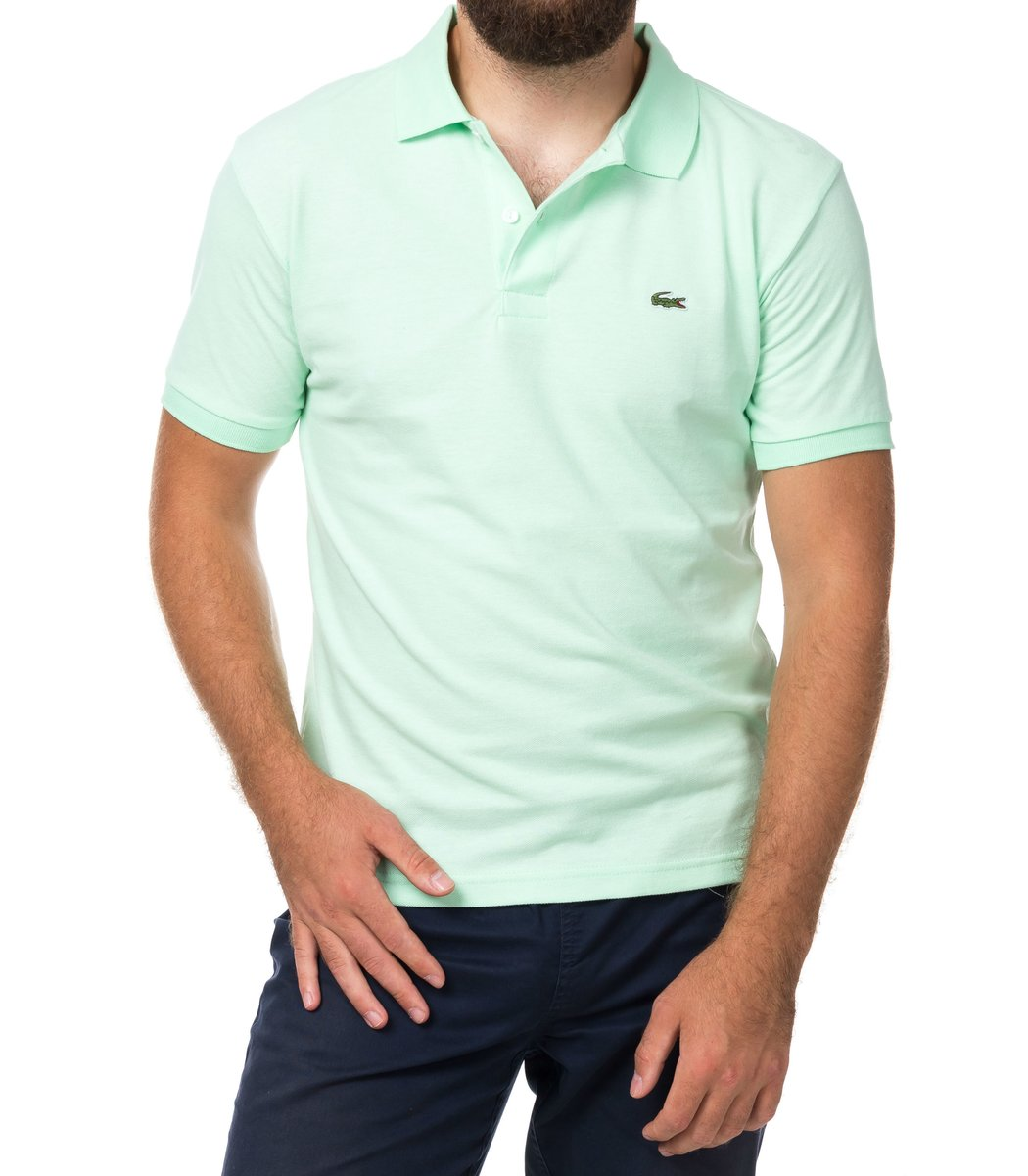 Мужская мятная футболка поло Lacoste