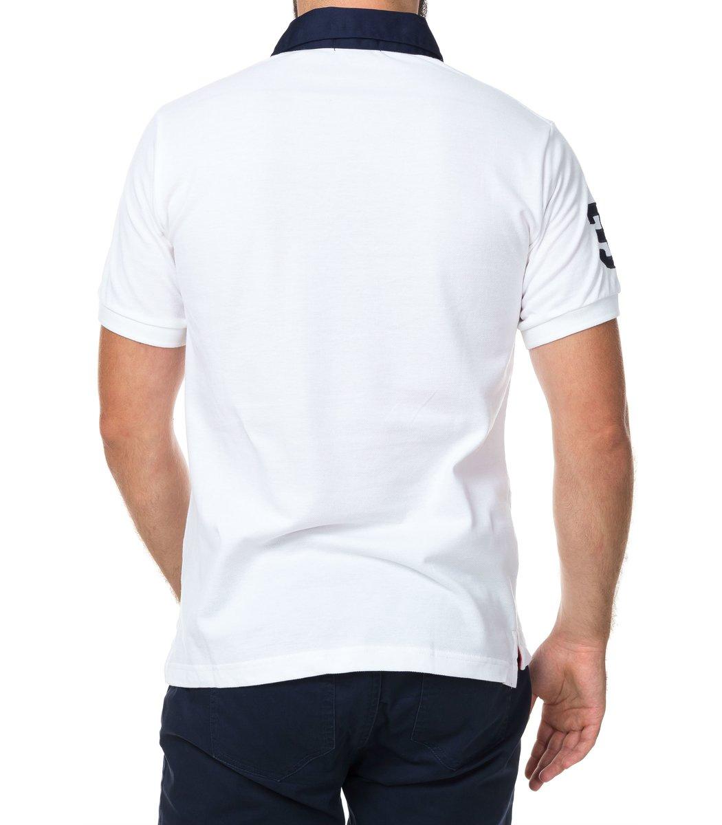 Мужская белая футболка поло Ralph Lauren R5