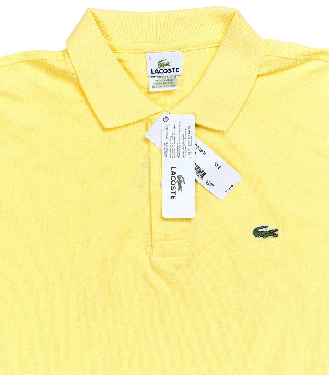 Мужская желтая футболка поло Lacoste - желтый - Вид 4