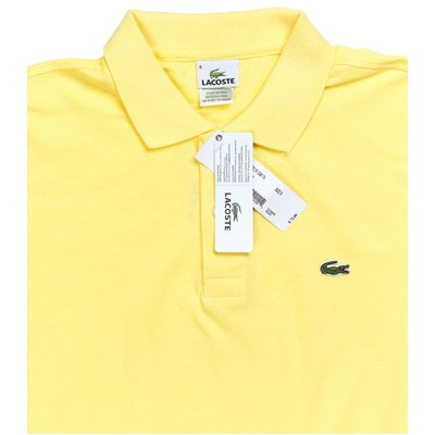 Мужская желтая футболка поло Lacoste