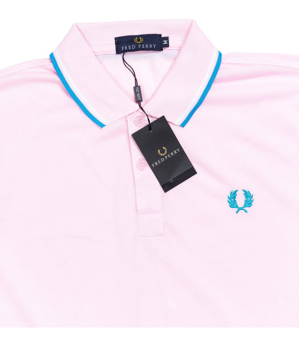 Мужская светло-розовая футболка поло Fred Perry
