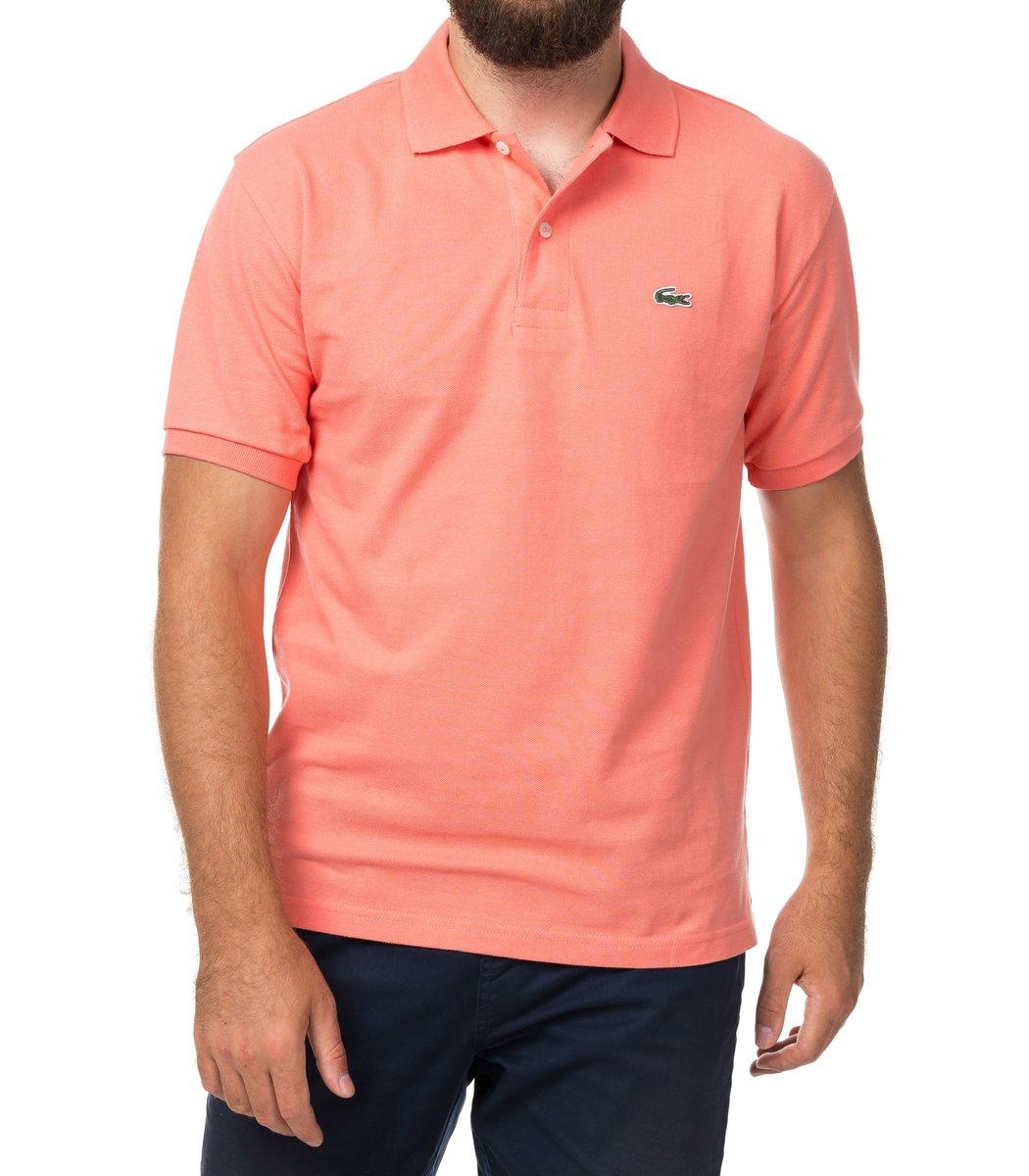 Мужская персиковая футболка поло Lacoste
