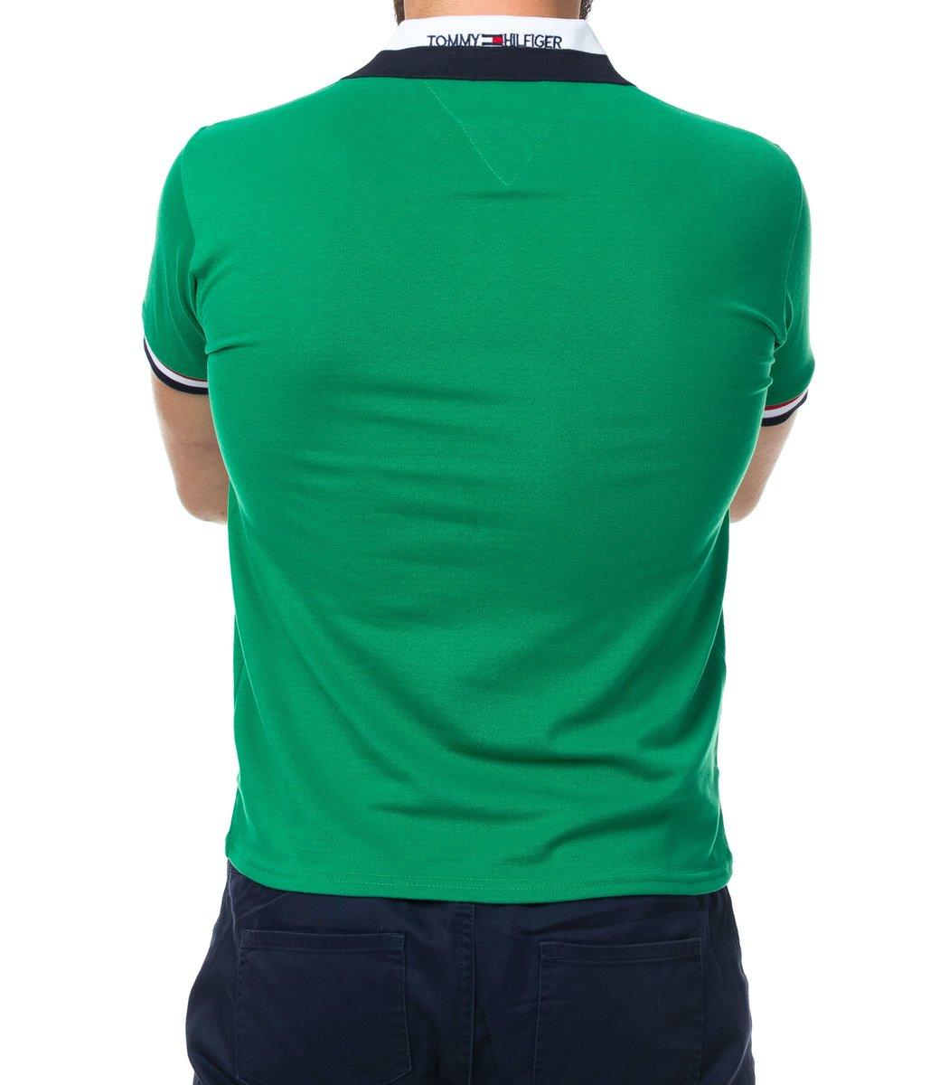 Мужская зеленая футболка поло Tommy Hilfige - зеленый - Вид 3