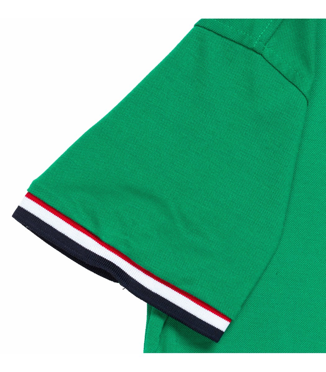 Мужская зеленая футболка поло Tommy Hilfige