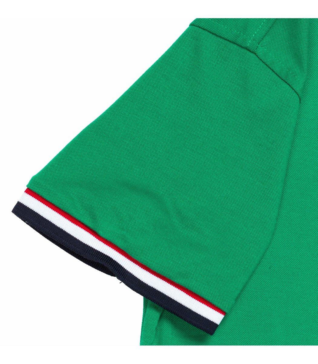Мужская зеленая футболка поло Tommy Hilfige - зеленый - Вид 5