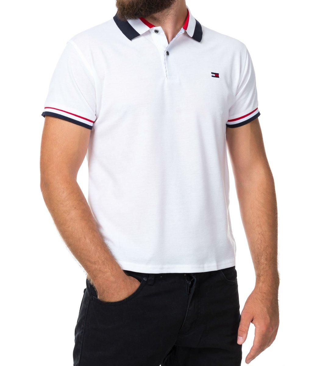 Мужская белая футболка поло Tommy Hilfiger - белый - Вид 2