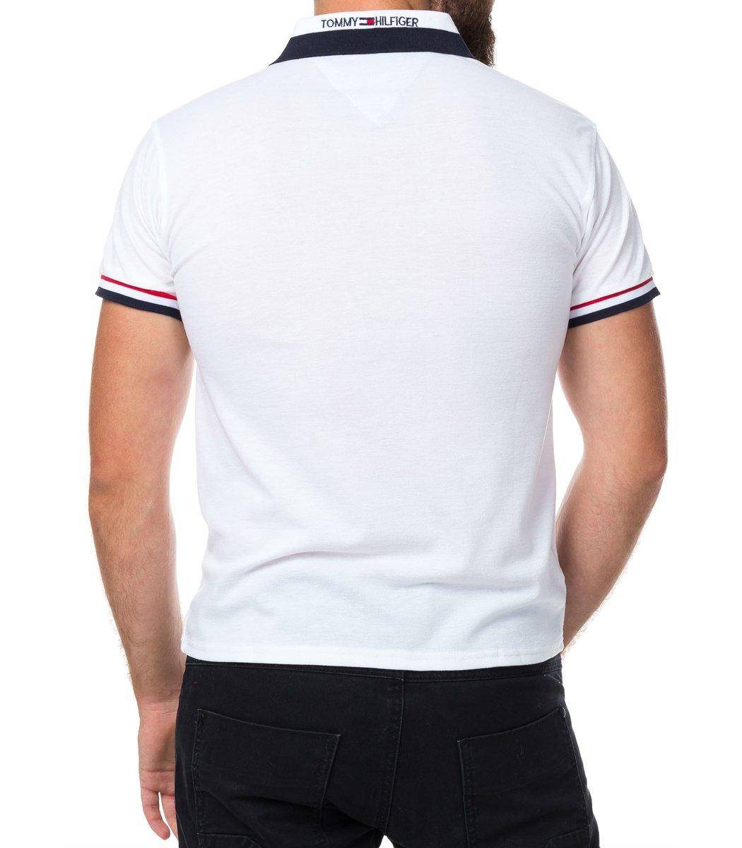 Мужская белая футболка поло Tommy Hilfiger - белый - Вид 3