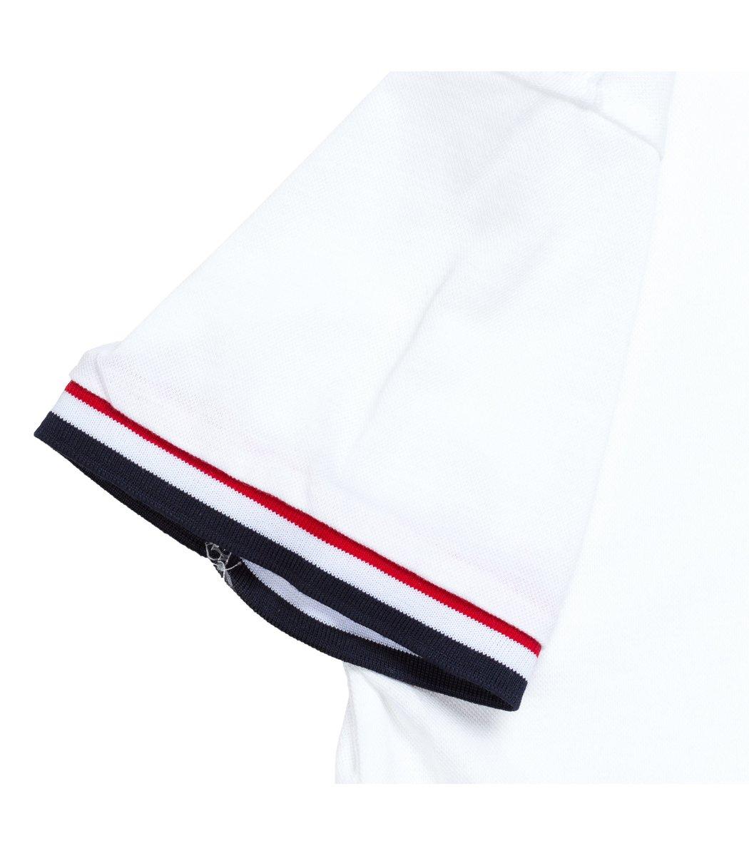 Мужская белая футболка поло Tommy Hilfiger - белый - Вид 5