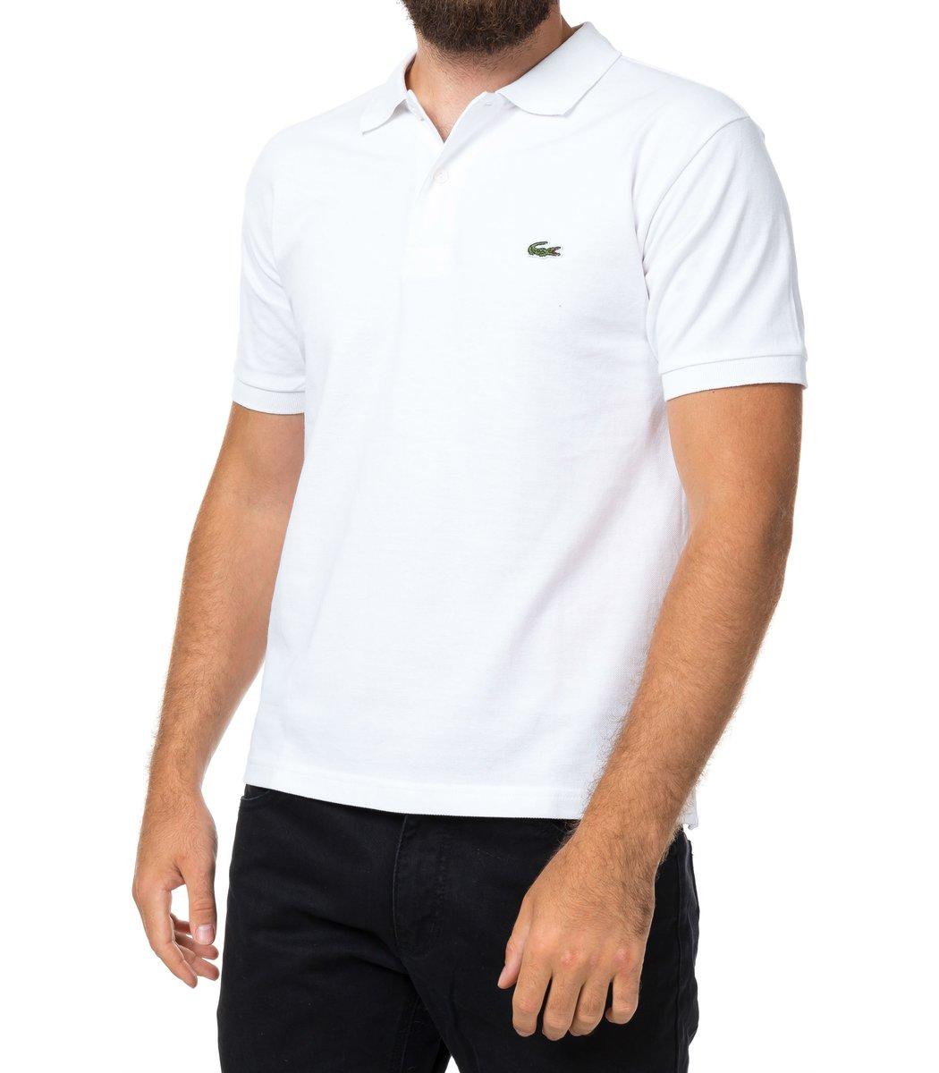 Мужская белая футболка поло Lacoste