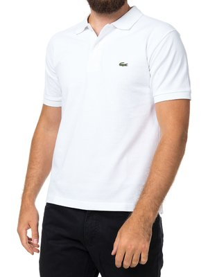 Белая футболка поло Lacoste