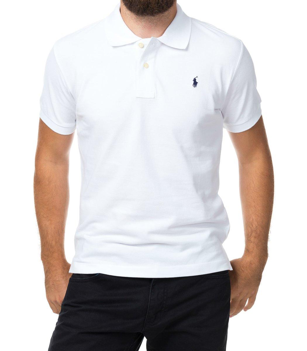 Мужская белая футболка поло Ralph Lauren R1