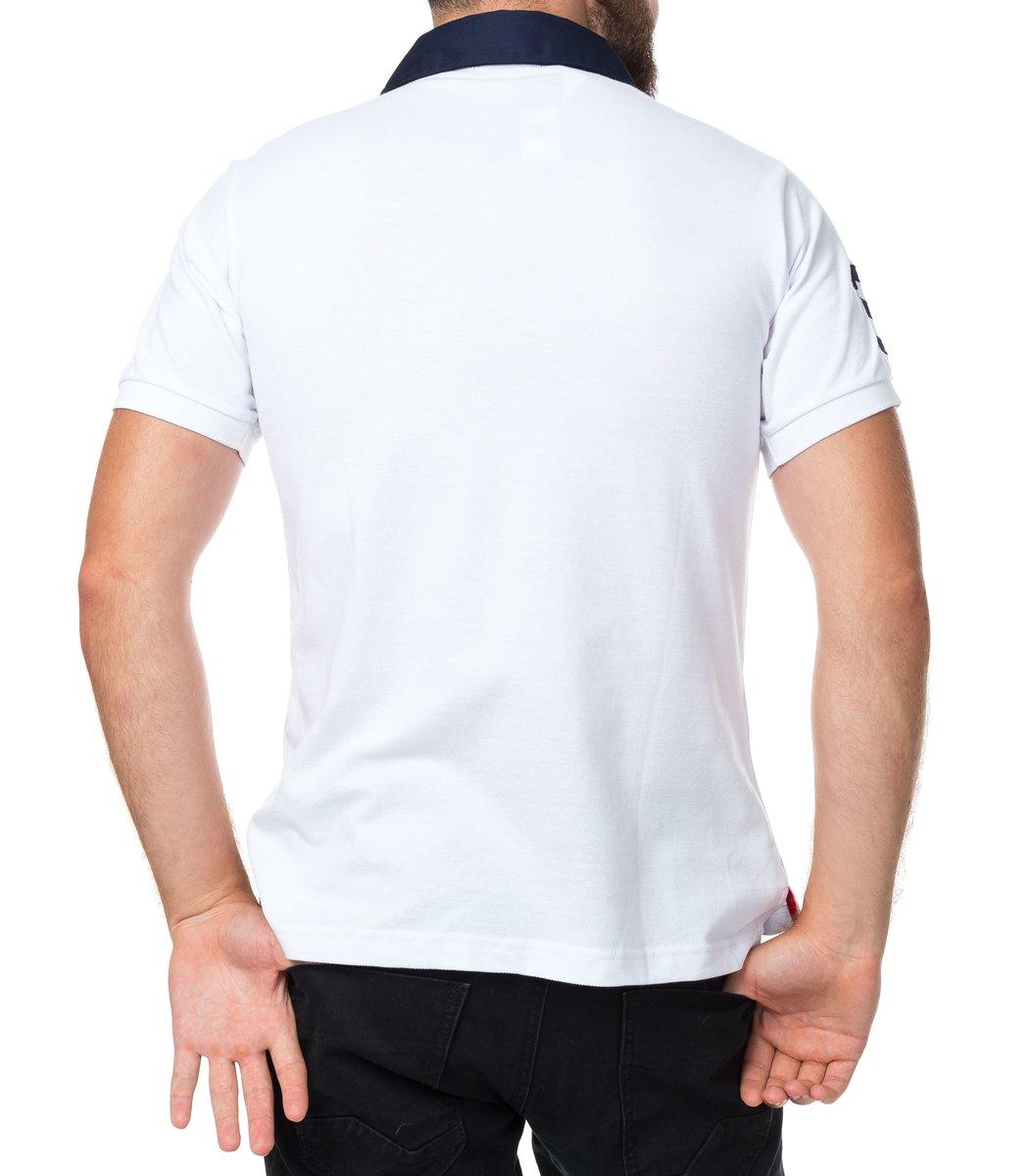 Мужская белая футболка поло Ralph Lauren R2
