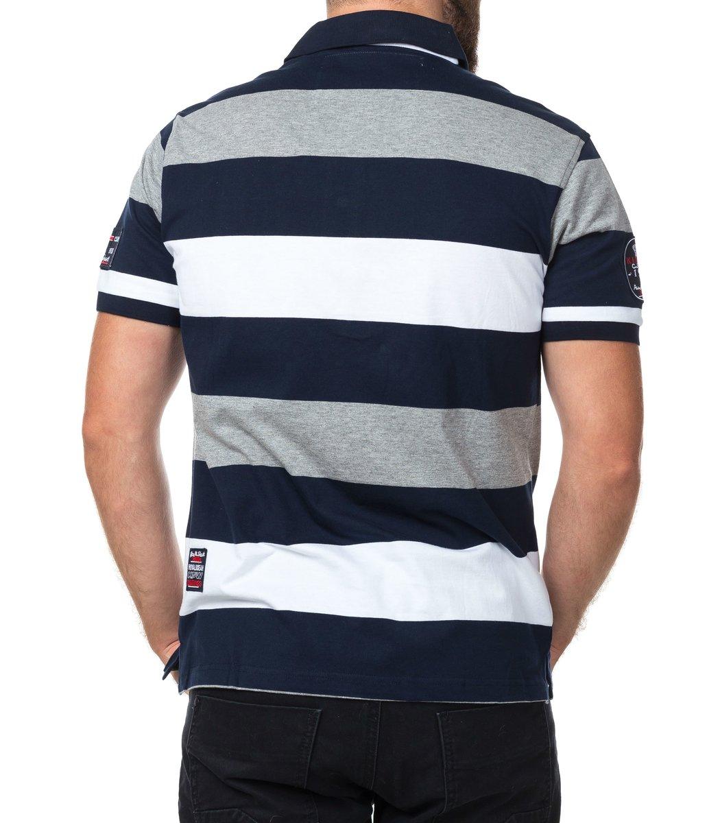 Мужская серая футболка поло Paul&Shark P2